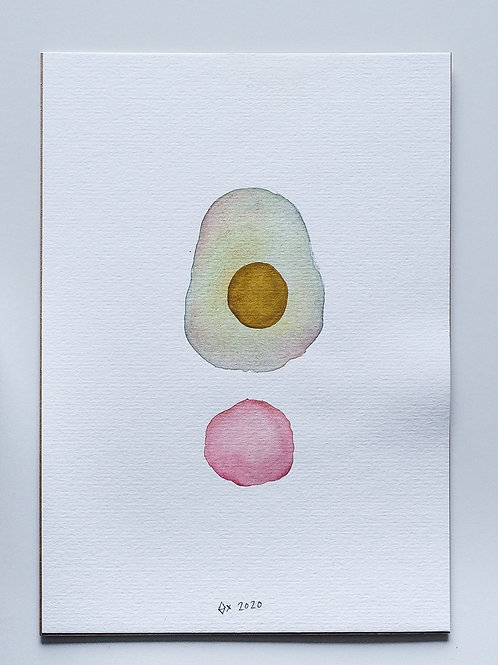 "Abstract Watercolour 030 (5.8"" x 8.3"")"