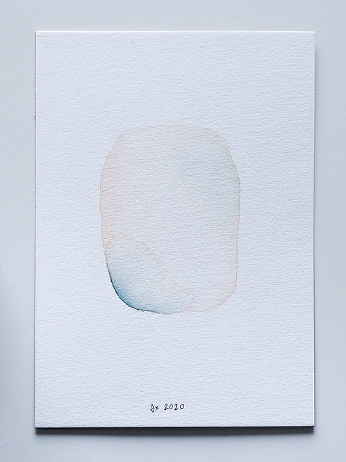 """Abstract Watercolour 011 (5.8""""x 8.3"""")"""