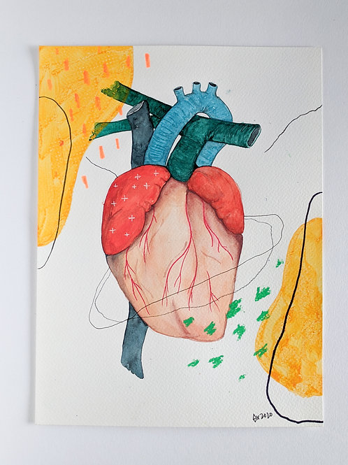 "Heart Attract 04 (size 12""x9"")"