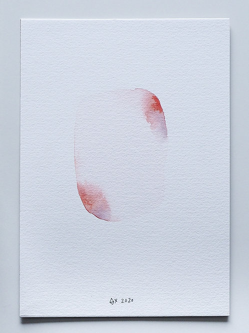 "Abstract Watercolour 010 (5.8"" x 8.3"")"