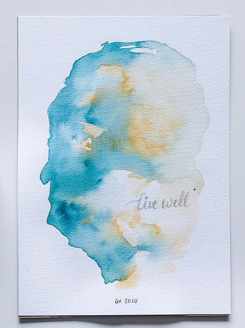 """Abstract Watercolour 026 (5.8"""" x 8.3"""")"""