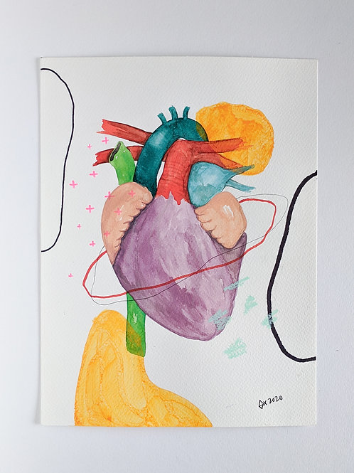 """Heart Attract 06 (size 12""""x9"""")"""
