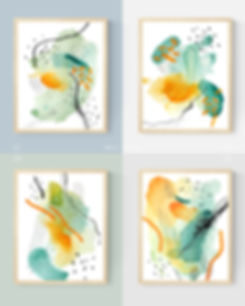 Well-Being Abstract Painting Art Print For Home Spaces | September Khu