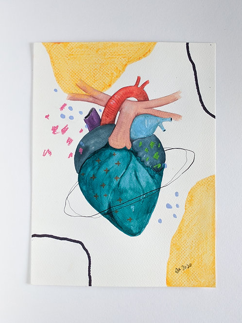 """Heart Attract 05 (size 12""""x9"""")"""