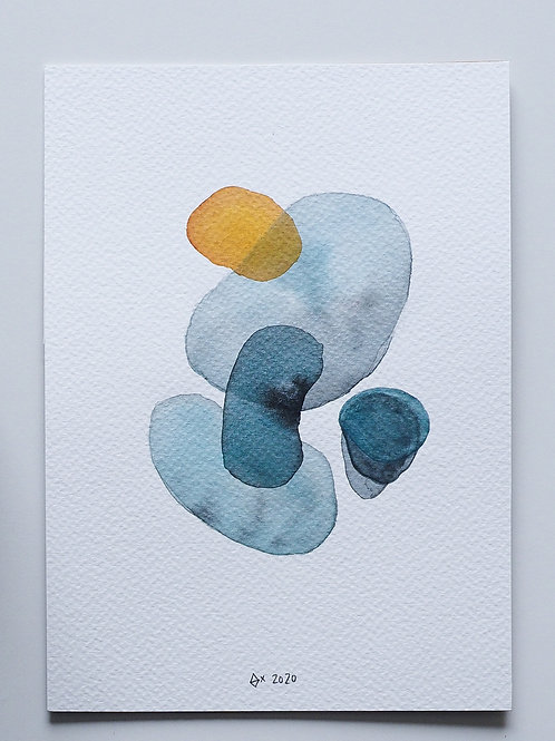 """Abstract Watercolour 019 (5.8"""" x 8.3"""")"""