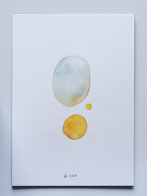 """Abstract Watercolour 022 (5.8"""" x 8.3"""")"""