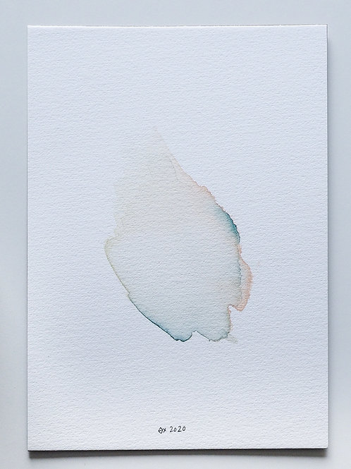 "Abstract Watercolour 002 (5.8"" x 8.3"")"