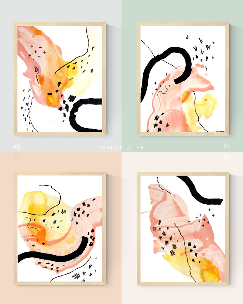 Passion Drive. Abstract Painting Art Print For Home Spaces   September Khu