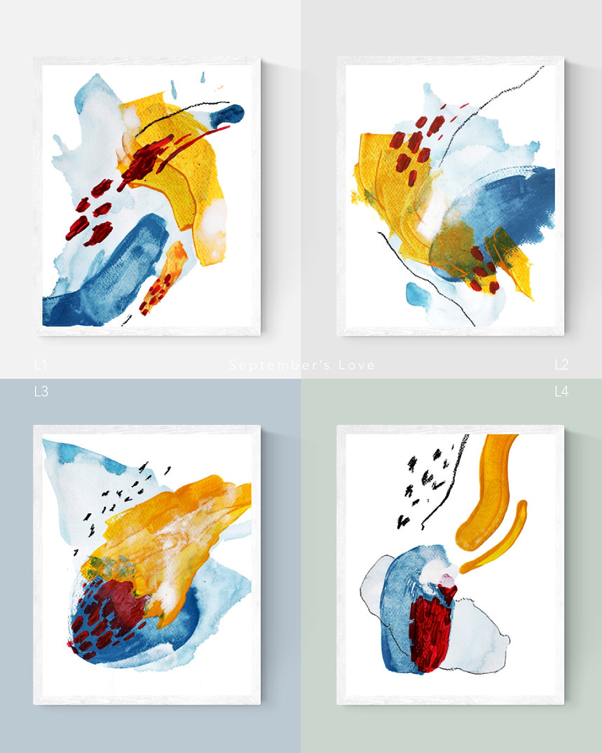 September's-Love Abstract Painting Art Print For Home Spaces | September Khu