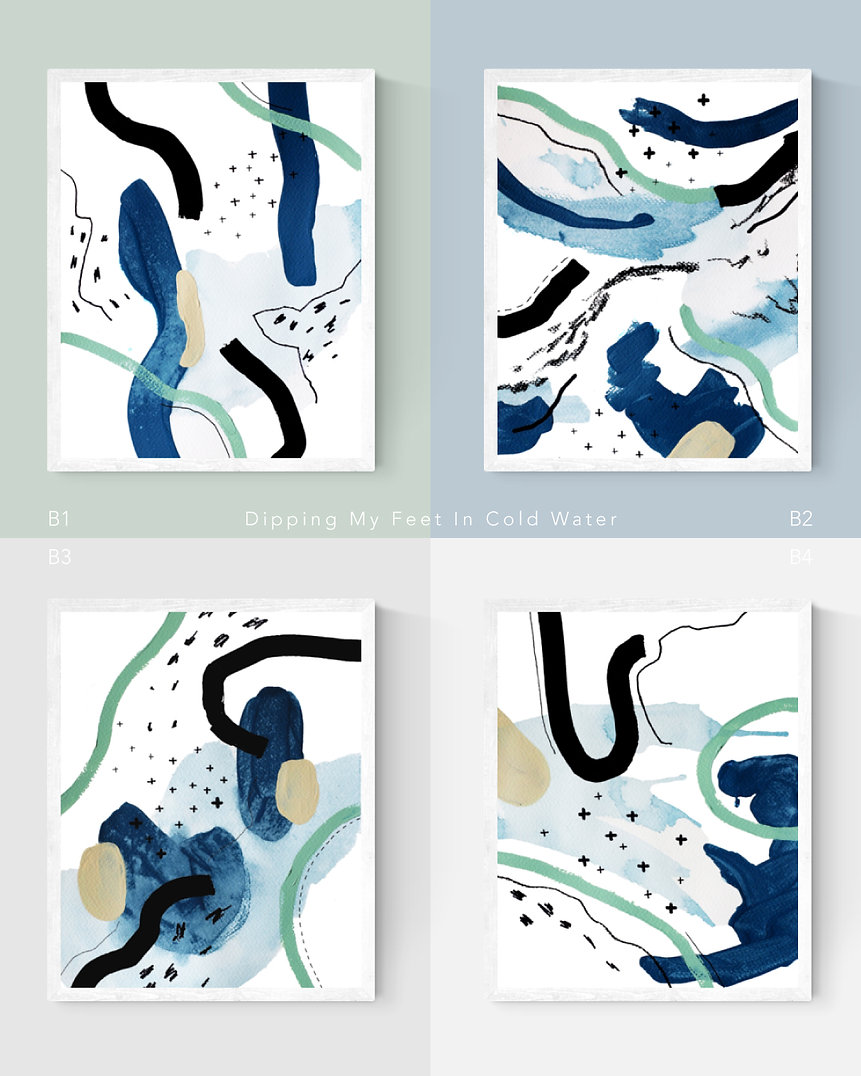 Dipping-My-Feet-In-Cold-Water Abstract Painting Art Print For Home Spaces | September Khu