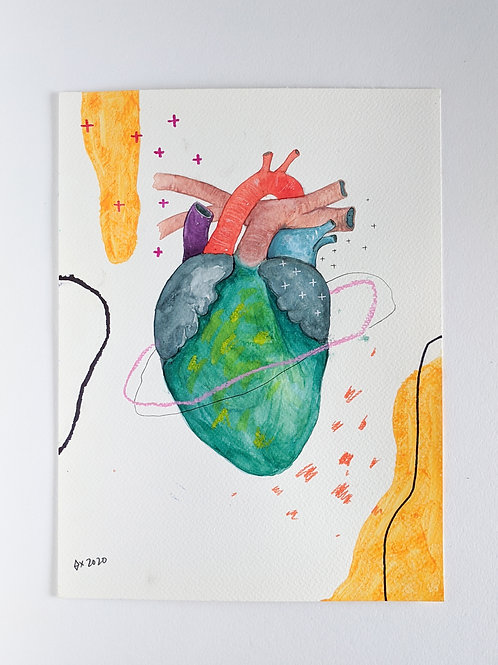 "Heart Attract 02 (size 12""x9"")"