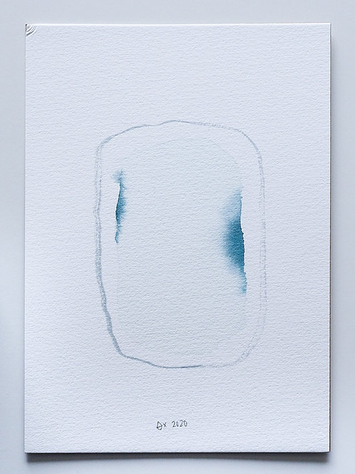 """Abstract Watercolour 009 (5.8""""x 8.3"""")"""