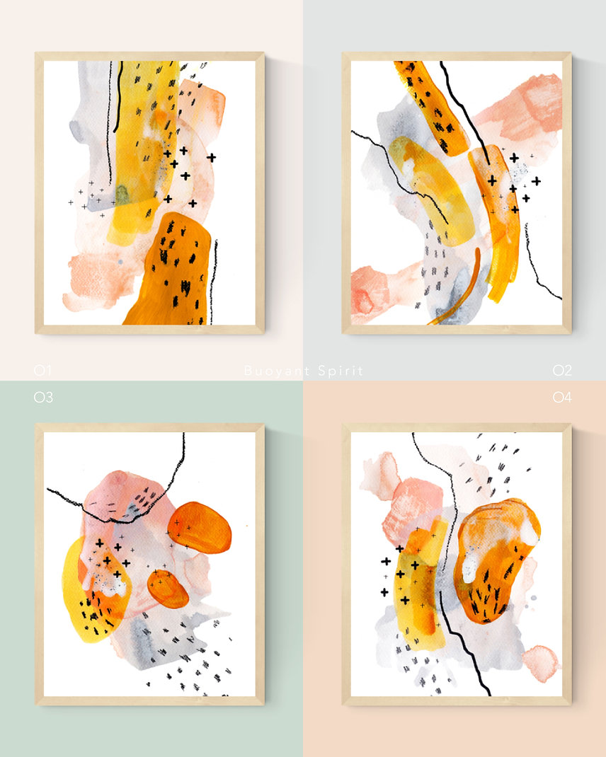 Buoyant-Spirit Abstract Painting Art Print For Home Spaces | September Khu