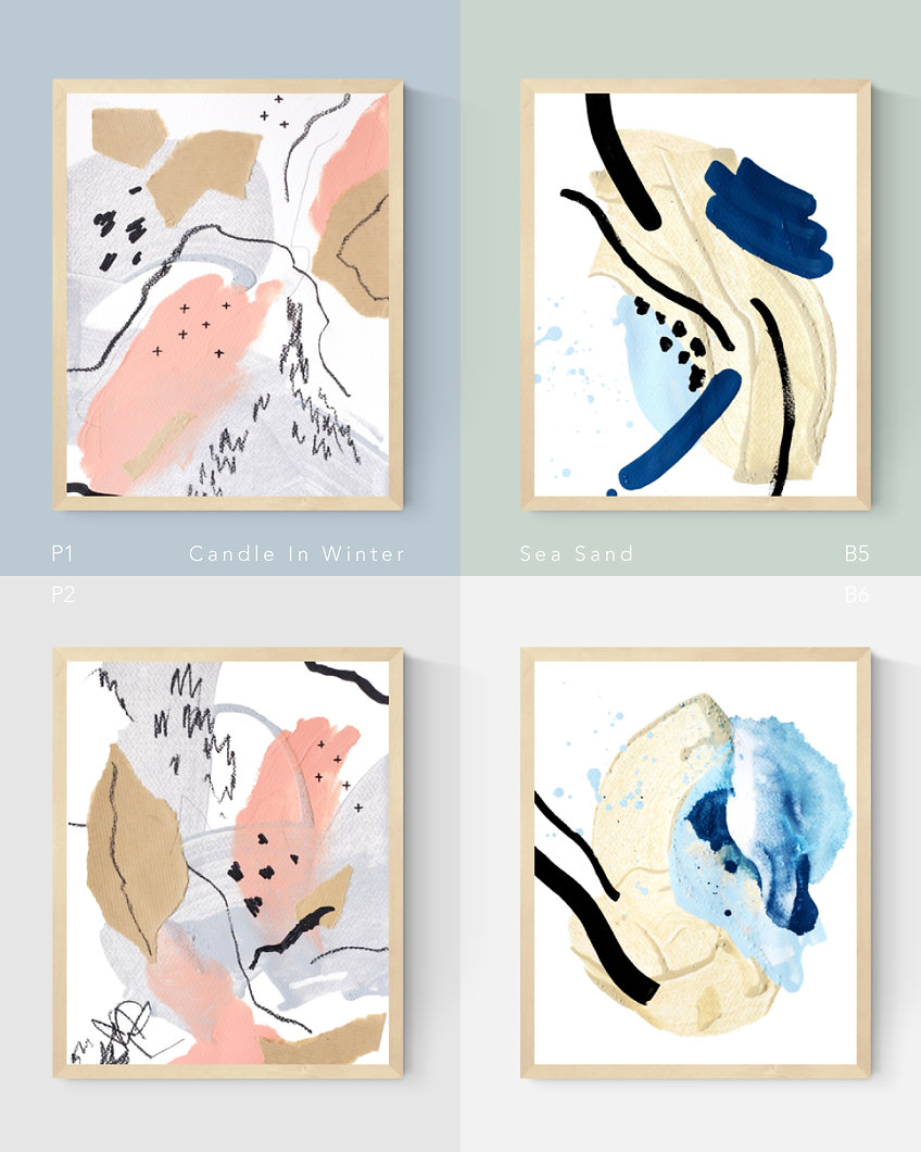 Candle In Winter; Sea Sand. Abstract Painting Art Print For Home Spaces   September Khu