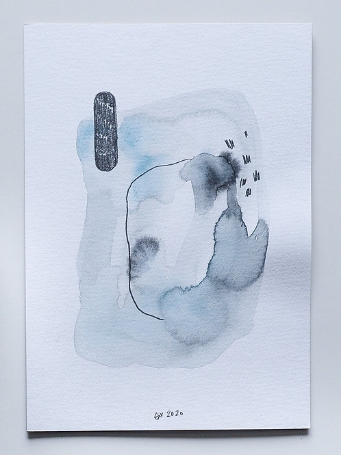 """Abstract Watercolour 029 (5.8"""" x 8.3"""")"""
