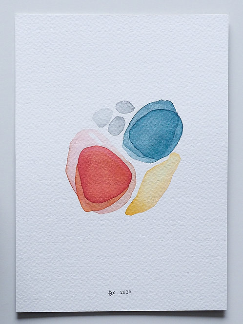 "Abstract Watercolour 008 (5.8"" x 8.3"")"