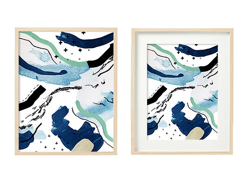 B2 Dipping My Feet In Cold Water Series - Original Artwork Prints