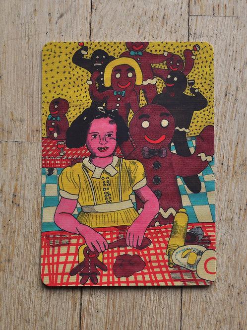 """Carte postale """"Farandole de pains d'épices"""""""