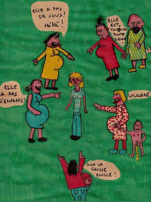 Poster «houu la grosse nulle !!!»
