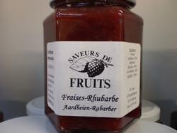 Confiture fraises-rhubarbe 320g