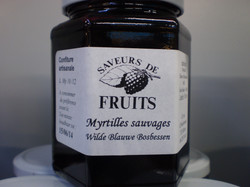 Confiture de myrtilles sauvages 320g