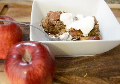 Low Carb Chia Apple Cobbler Scoops!!