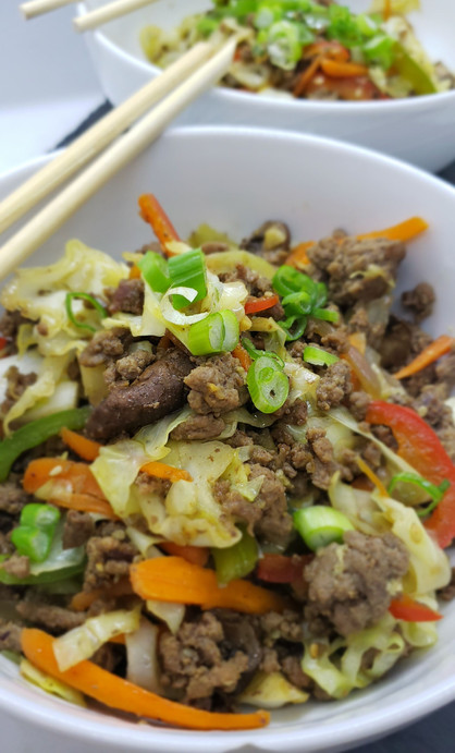 Whole 30 Egg Roll in a Bowl!