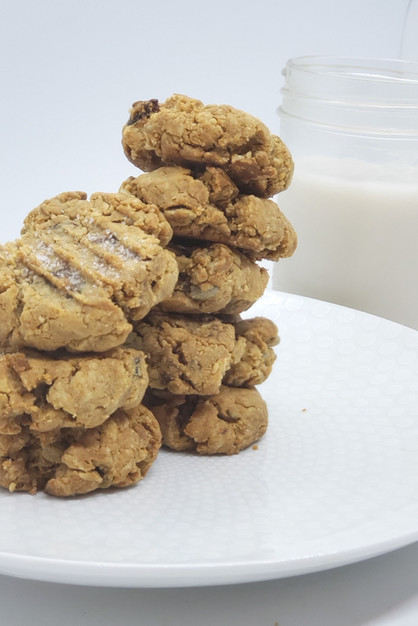 Chewy Salted Trail Mix Cookies!