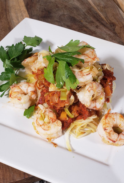 Sassy Sun Dried Tomato Confit with Shrimp!