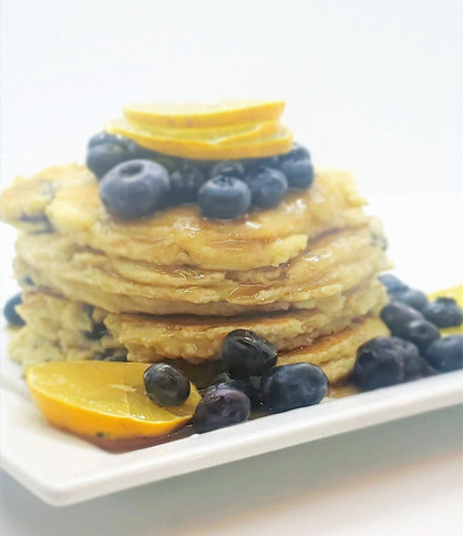 Pure Heart Lemon Blueberry Pancakes