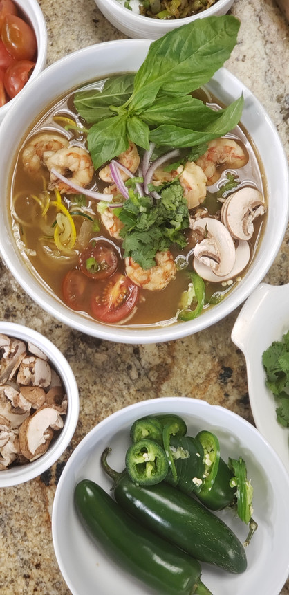 "Sassy Shrimp Pho with Zoodles! ""As Seen on Daytime with Kimberly & Esteban!"""