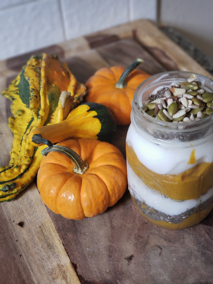 The Most Non-Basic Protein Pumpkin Spice Parfait on the Internet!