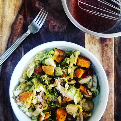 3 Step Turkey Day Leftover Salad
