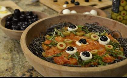 Vegetarian Black Bean Pasta with Smoked Pomodoro *As Seen On Daytime @ Nine*