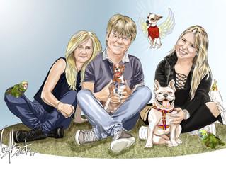 Caricatura em Família