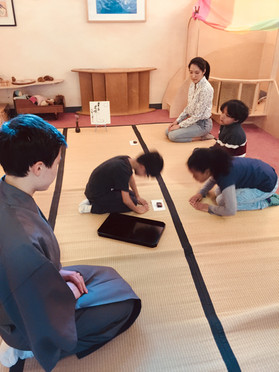 Tea class at Brooklyn Nijinokakehashi Japanese Cultural Center Early Childhood Section