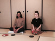 Tea ceremony for non-Japanese at Keisui-An Globus tea house.