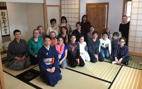 Tea ceremony for World Explorers Club