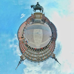 The Plaza Mayor is located at the heart of Hapsburg Madrid
