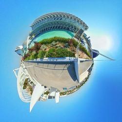 The City of Arts and Sciences (Ciudad de las Artes y las Ciencias) located in Valencia is one of the