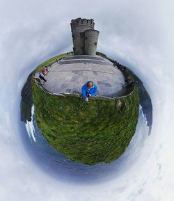 O'Brien's Tower marks the highest point of the Cliffs of Moher. ._._._._
