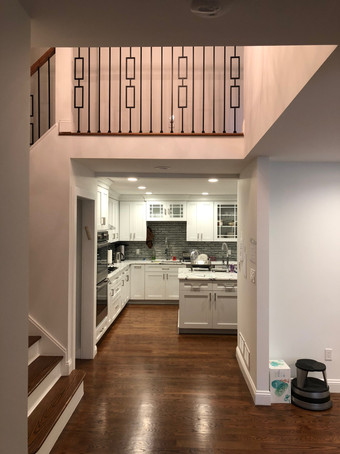 Walk into the kitchen