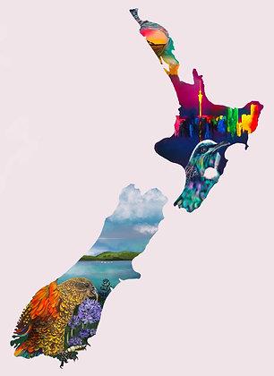 NZ Map Art