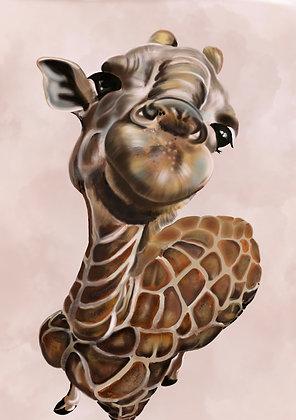 PRINT - Baby Girraffe