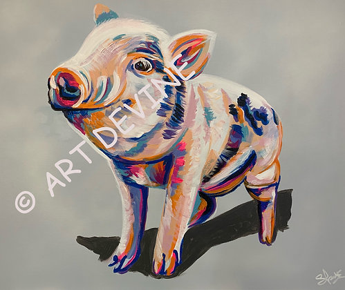 PRINT - Piggy (Matching Cow)