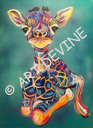 PRINT - Baby Giraffe