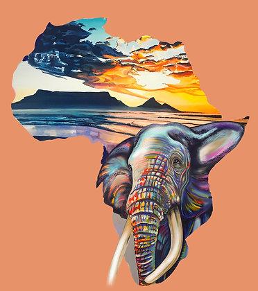 African Map Art