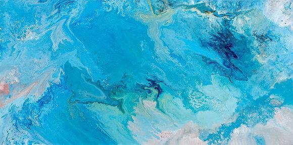 Aqueous Flow I – Original Fluid Painting