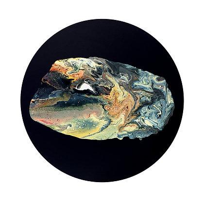Biomorphic Hopeful Blob II – Original Painting on Round Canvas