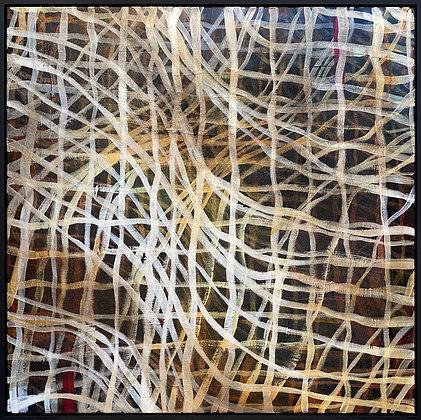 Random Precision IV - Large original Abstract painting Framed